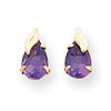 14k Madi K Amethyst w/Leaf Earrings