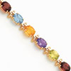 14k  Rainbow Gemstone Bracelet