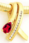 14k Ruby A Diamond Slide